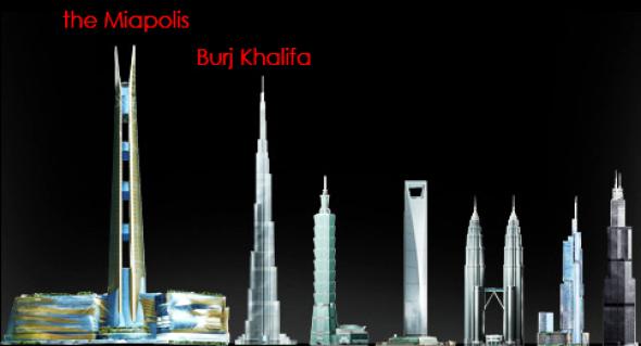 Miapolis Tower. El rascacielos que pudo desbancar al Burj Khalifa. Grandes proyectos que no se construyeron