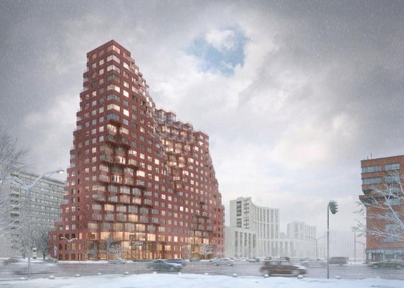 Torre neoconstructivista de 78 metros de alto en el centro histórico de Moscú
