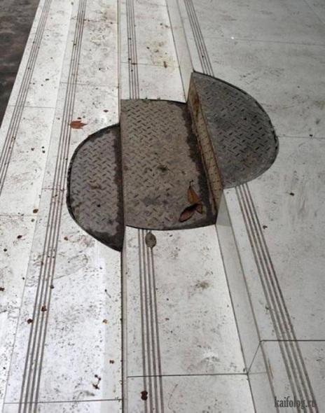 Humor en la arquitectura. Y de pronto... había una coladera