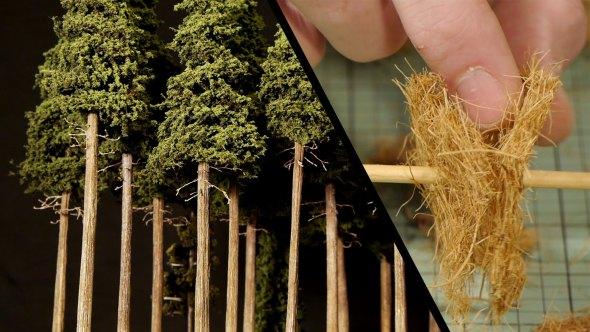 Cómo hacer los mejores árboles para tus maquetas con materiales caseros