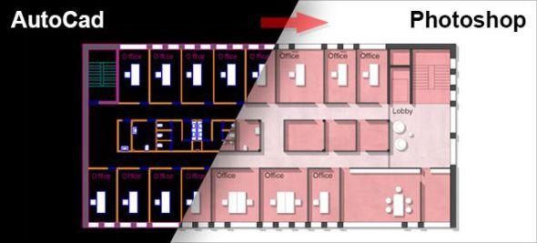 Cómo renderizar un plano de AutoCAD en Photoshop