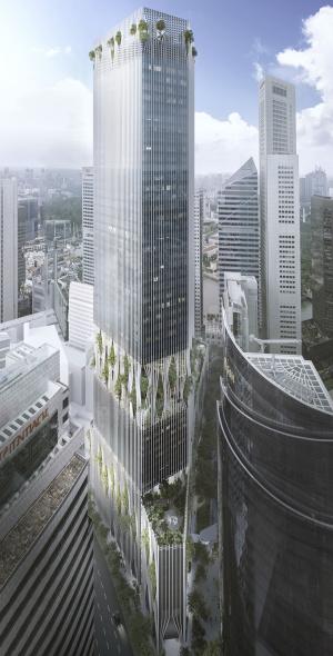 Torre-oasis en el centro de Singapur, obra de BIG Architects