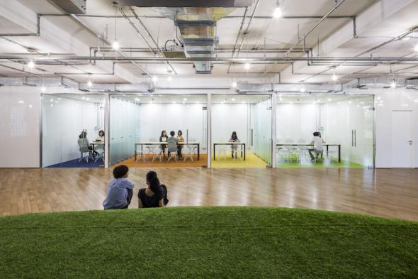 La oficina del futuro es un parque siempre verde