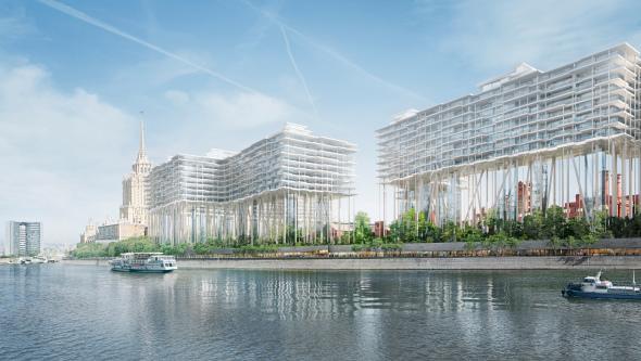 Rascacielos horizontal de Herzog & de Meuron en Moscú