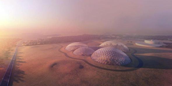 En construcción, la primera ciudad marciana en la Tierra
