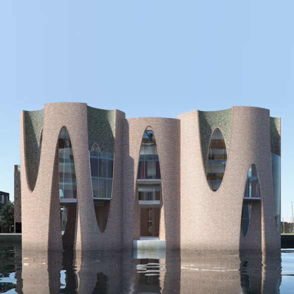 Artista danés se estrena como arquitecto con un castillo en el mar