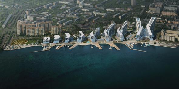 Zaha Hadid Architects gana concurso para planificar el puerto de envío más grande de Rusia