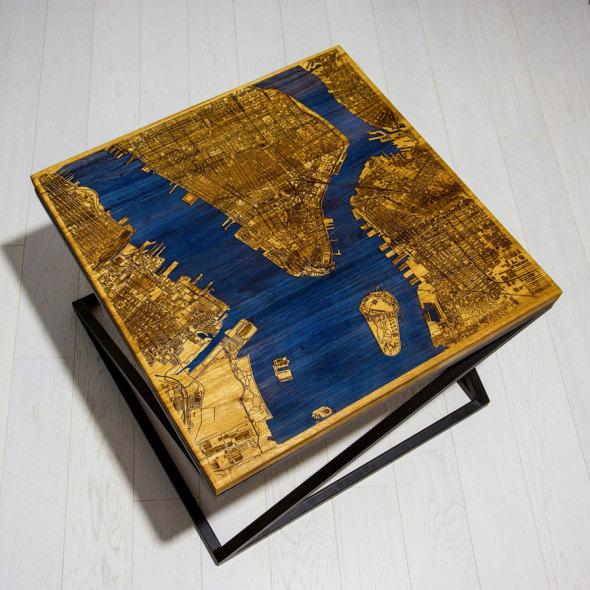 ¿Te gusta el café, los mapas de ciudades y las mesas?