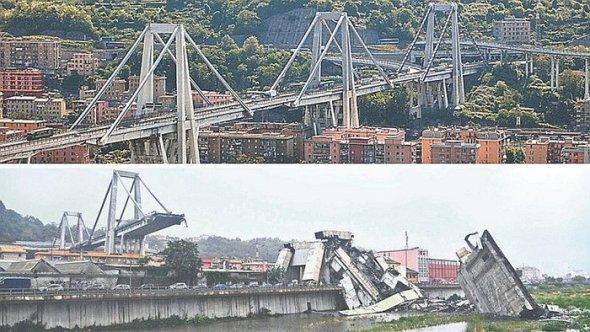 El posible culpable del colapso del puente de Génova