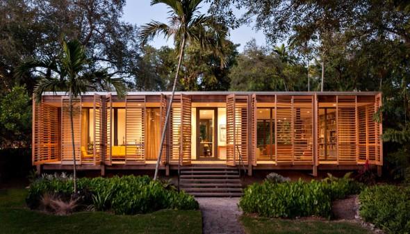 Casa-pabellón en el caluroso Miami