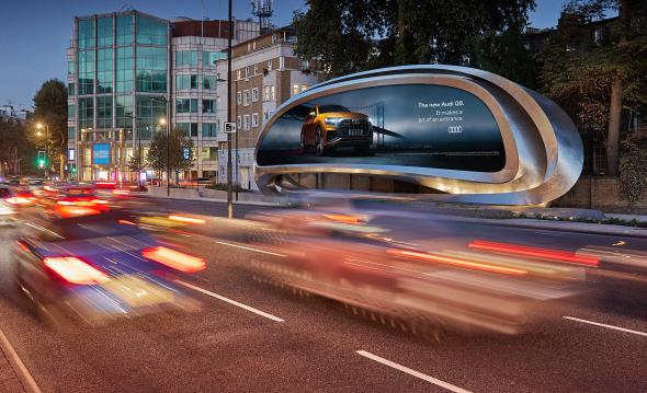 Valla publicitaria diseñada por Zaha Hadid y Patrik Schumacher