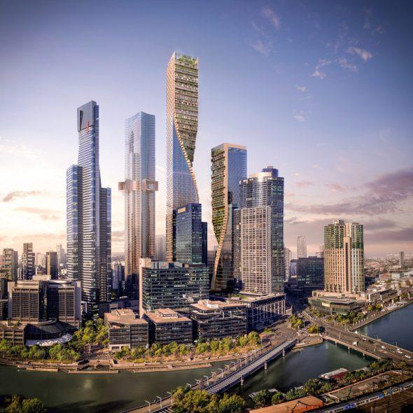 Las torres gemelas de Melbourne, los edificios más altos de Australia