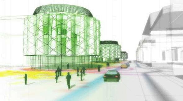 Rehaciendo la ciudad: Bulevar bioclimático con árboles de aire