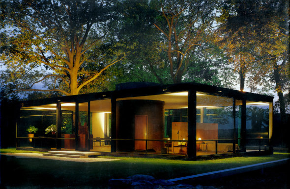 La Casa de cristal -Glass House [1949]- [Philip Johnson].